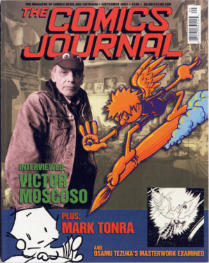 Magazine / The Comics Journal #246, Mark Tonra Interview